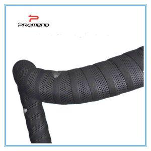 PROMEND Rennräder Fahrradlenkerband Balck Mesh-Design Non-slip wasserdichte Lenkerband Weiche EVA Sponge Tape schwarz