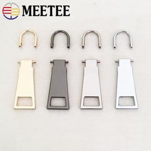 MeeTee 8 # 10 # 15 # Zipper Sliders Cabeza Zip Repair Kits desmontable cremallera del metal de tirones Tab DIY Craft tiradores de la cremallera de costura ZT109