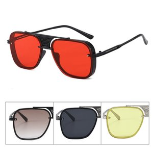 Free shipping in stock Europe and America trend metal punk steam sunglasses men and women big frame high quality brand design sunglasses uv4