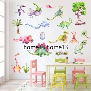 New 3D Cartoon Dinosaur Wall Sticker Nursery Kids Room Wall Paper Animal Art Vinyl Poster Removable Wall Decals Home Decor