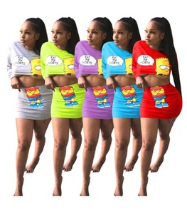 Atractivo de las mujeres del diseñador de 2 piezas sudaderas de vestir falda de la manera blusa entallada de manga larga minifalda S-XL cuello redondo ropa informal de verano 3180 de DHL