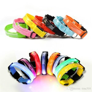 Hot sale LED luminous pets Collar colorful stripe dog collar Luminous pet safety belt pet decoration supplies IA940