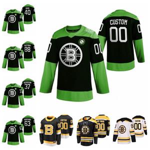 Boston Bruins Jerseys Patrice Bergeron Jersey David Pastrnak Zdeno Chara Marchand Charlie Coyle Jerseys HockeyFightnCoV Custom Stitched