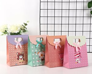 Size 12*6*16 Fashion Creative Christmas Small Gift Wrap Tote Bag Paper Bag Clamshell Bag wedding supplies gift box YD0555