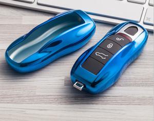 Car Key Cover para Porsche Keyless Remote Case Carcasa Side Shell Cap Fob Protección C19011001