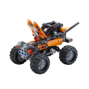 Building block toy small particle science and technology machinery building block toy off-road vehicle