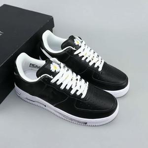 GD x PEACEMINUSONE x forzate 1 Low Black White Skateboard Scarpe Uomo Moda Donna Nero comodi formatori esterni Sneakers