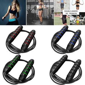 Equipo de ejercicio aeróbico ajustable boxeo de Saltar Deporte Saltar la cuerda Teniendo Saltar la cuerda del cable velocidad de gimnasio saltar cuerdas FY7057