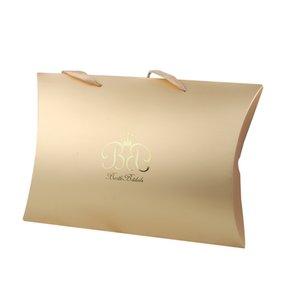 Stock Virgin Hair extensions packaging paper pillow box,Custom logo brand name metal stickers,OEM Hair wrap bundle packing box