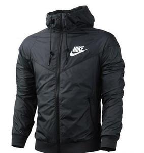 N5 envío Caída Windrunner delgada mujeres de los hombres de ropa deportiva de alta calidad tela impermeable de los hombres chaqueta de deportes de la moda de la cremallera con capucha tamaño 3XL HH7