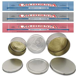 Lata Mano 3,5 g sellado a prueba de olor Caso a prueba de niños de embalaje Lata flor seca hierba permita modificado para requisitos etiquetas autoadhesivas de diseños OEM