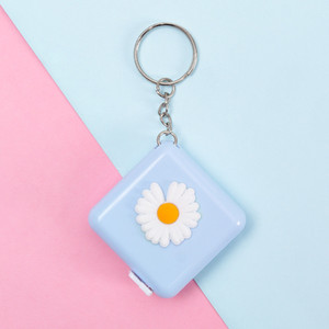 Cute Cartoon Mini Measuring Tape Functional Portable Tape Measure Chest Waist Hips Clothing Round Square Shape Daisy Pattern Tape Measure