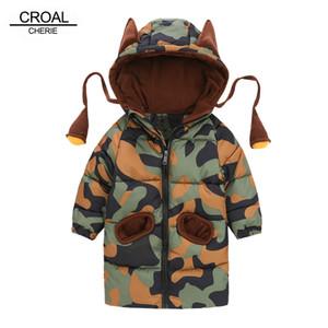 Croal Cherie 80-120 cm Kinder Winterjacken für Teenager-Mädchen Warme Winter Baby Parkas für Jungen Tarnung Säuglingsmantel