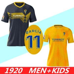 طقم أطفال رجالي 19 20 Cadiz Home Niño كرة القدم جيرسي 2020 Jovanovic García Soccer Shirt PEREA Fernandez Mauro JONA قميص كرة القدم
