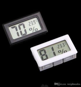 LCD رقمية صغيرة جزءا لا يتجزأ من الحرارة الرطوبة درجة الحرارة الرطوبة متر داخلي ميزان الحرارة أسود أبيض