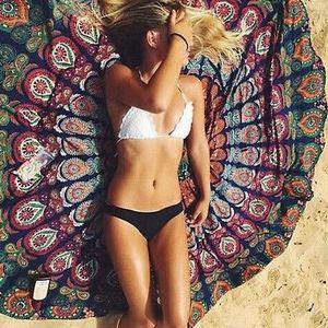 Schöne kreative Beach Style Wandbehang Strand Wurf Yoga-Matte Neue Runde Mandala Tapestry Ethnic Art-Druck