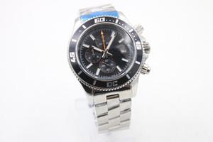 Best seller moda yeni saatler erkekler superocean ii miras 44 İzle siyah dial izle kuvars chronograph İzle erkek elbise kol