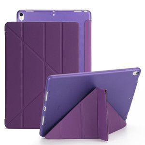 IPad en silicone souple Retour pour iPad pro10.5 2019 cas ipad23 10,2 mini4 5 Pu cuir Smart Case Cover