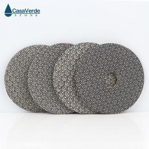 5 дюймов 125мм Алмаз гальваническим полировка Pad 4 шт. / компл. быстрое удаление плитка стекло бетон камень шлифовальный диск полировка металла