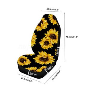 Universal Seat Cover Car Decoration Replacement Sunflower Print Protector