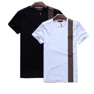 dfdg Luxurys Европа Париж вышивка Contrast лоскутное GIV Tshirt 2020 Мужские Конструкторы Футболка Casual Мужчины Одежда Хлопок Tee Y89