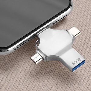 USB 3.0 Flash Drive for iPhone Android Type C Usb Key OTG 16GB 32 GB Pendrive 128GB NEW 4 in 1