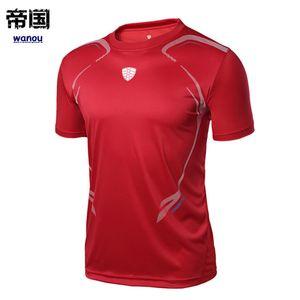 قمصان تنس ماركة الرجال في الهواء الطلق الجري الرياضية تجريب الملابس الريشة الذكور تي شيرت تنس الطاولة الملابس المحملات قمم