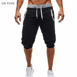 Mens Joggers los pantalones hasta la pantorrilla cototon mezclan grises Pantalones Harem negro masculino Hip Hop casual pantalones de los pantalones Sweatpants Joggers
