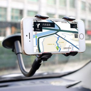 Cheap Universal 360° in Car Windscreen Dashboard Holder Car Mount Long Arm Mount Stand For iPhone Samsung GPS PDA Mobile Phone fast ship