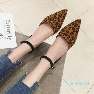 Pretty2019 печати Leopard Низкий С Один Пряжка орфографическую Цвет CAVity Ol женском одиночном разряде обуви