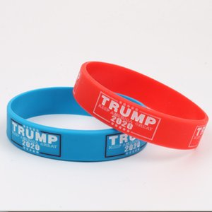 Machen Sie Amerika Great Again Armband Trump 2020 Silikon-Armband Brief Donald Trump Supporters Armband Mode Armbänder BH2122 TQQ