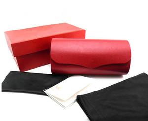Luxo Designer de óculos caso full-set óculos de sol embalagem, óculos caso saco de pano declarações logotipo para todos os tipos de óculos de design de luxo