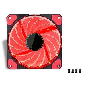 120Mm Pc Computer 16Db Ultra Silent 15 Leds Case Fan Heatsink Cooler Cooling W  Anti-Vibration Rubber,12Cm Fan,12Vdc 3P Ide 4Pin