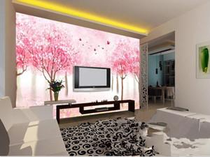 carta da parati personalizzata Cherry blossoms tv sfondo murales parete camera da letto i bambini soggiorno sala 3d carta da parati
