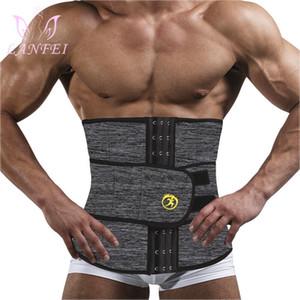 Cintos Mens Thermo Neoprene Shaper Corpo cintura instrutor Slimming Corset Apoio Da cintura para Sweat Underwear Strap Modeling Shapers
