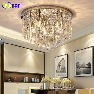 FUMAT كريستال K9 واضح مصابيح السقف مودر نمط الإضاءة جولة شكل E14 غرفة المعيشة غرفة الطعام الفاخرة شنقا الإضاءة