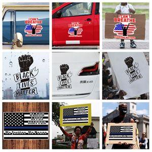 Sıcak Yaratıcı yumruk Sticker kendinden yapışkanlı Siyah ömürleri araba sticker PVC etiket herkesin meselesi Dekoratif Çıkartmalar T2I51089 matter