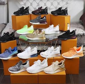 2020 Koşu Ayakkabı Erkek Tasarımcı V.N.R Sneaker Mavi Siyah Casual Deri Spor Lüks Box ile Erkekler Kadınlar Nefes Tenis Eğitmenler