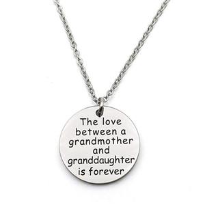 Nieta regalos de la abuela del amor entre la abuela y la nieta de cumpleaños es siempre joyería collar Familia