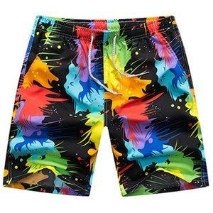 Summer Beach Shorts Men Swim Shorts Colorful Quick Dry Men's Surf Board Random Pants #2P19