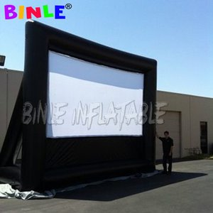 Outdoor rear projection inflatable screen inflatable movie screen with back frame for outdoor activity