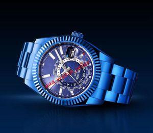 10 Stili Mens Luxury Watch Diw Master Sky Sky Dweller 326935 326938 326939 Timer World Timer Movimento automatico Hip-hop Jay-Z Version wristwatch