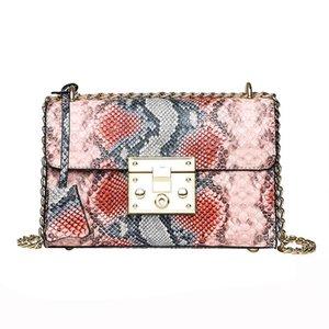 Luxury Handbag Designer Bags For Women 2019 Leather Clutch Purse Chain Serpentine Ladies Shoulder Messenger Bags Sac A Main#H25