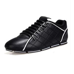 2019 novos homens outono selvagens sapatos de couro casuais coreano homens tendência ervilhas sapato de algodão quente de inverno maré Sports sneakers