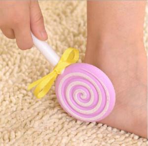 bonbons mode mignon de style lollipop pour enlever les outils palmes de exfolier la peau vieux frictionner pieds corps supprimer le fichier de soins de pédicure pied grattoir gommage ca