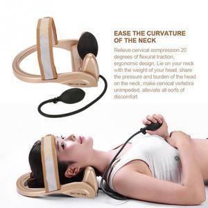 목 경추 견인 장치 척추 트랙터 공압 펌프 목 척추 자세 견인 두통 머리 목 근육 통증 완화