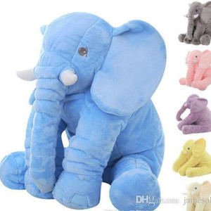 60cm Fashion Baby Animal Elephant Style Doll Stuffed Elephant Plush Pillow Kids Toy for Children Room Bed Decoration Toys 5Color b502