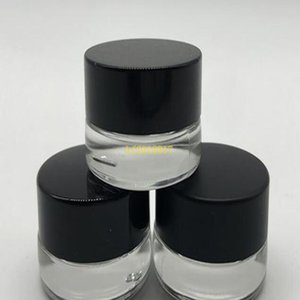 300 X 3g Traval Small cream make up Glass jar with aluminum lids white pe pad 3cc 1 10oz cosmetic packaging glass jar