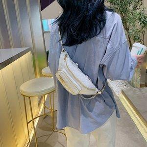 Cintura 2020 Moda Fanny para las mujeres de la tela escocesa de impresión de hombro bolsa de cuero de la PU Fanny Packs pecho de las mujeres bolso de la correa Pochete Femenina # 50