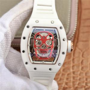 Rm52-01 Montre DE LUXE выдолбленного циферблат 43x50mm керамический корпус анти-обесцвечивание противоизносные механического движения часы дизайнер бренда